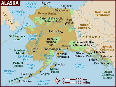 Alaska Map Map Of Alaska Geography Of Alaska Worldatlascom Grand - Mt mckinley on us map